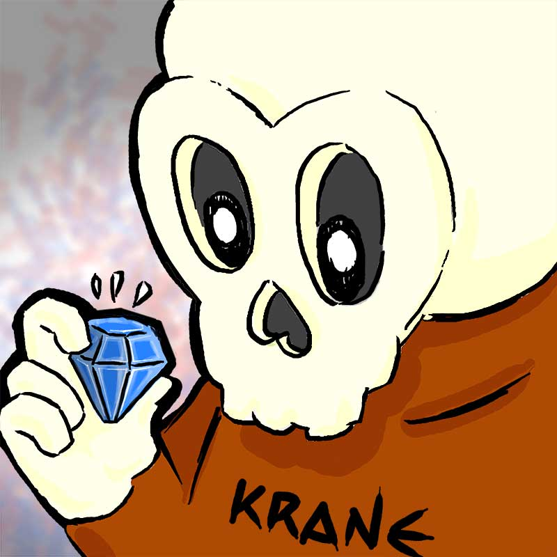Diamond skull by Krane