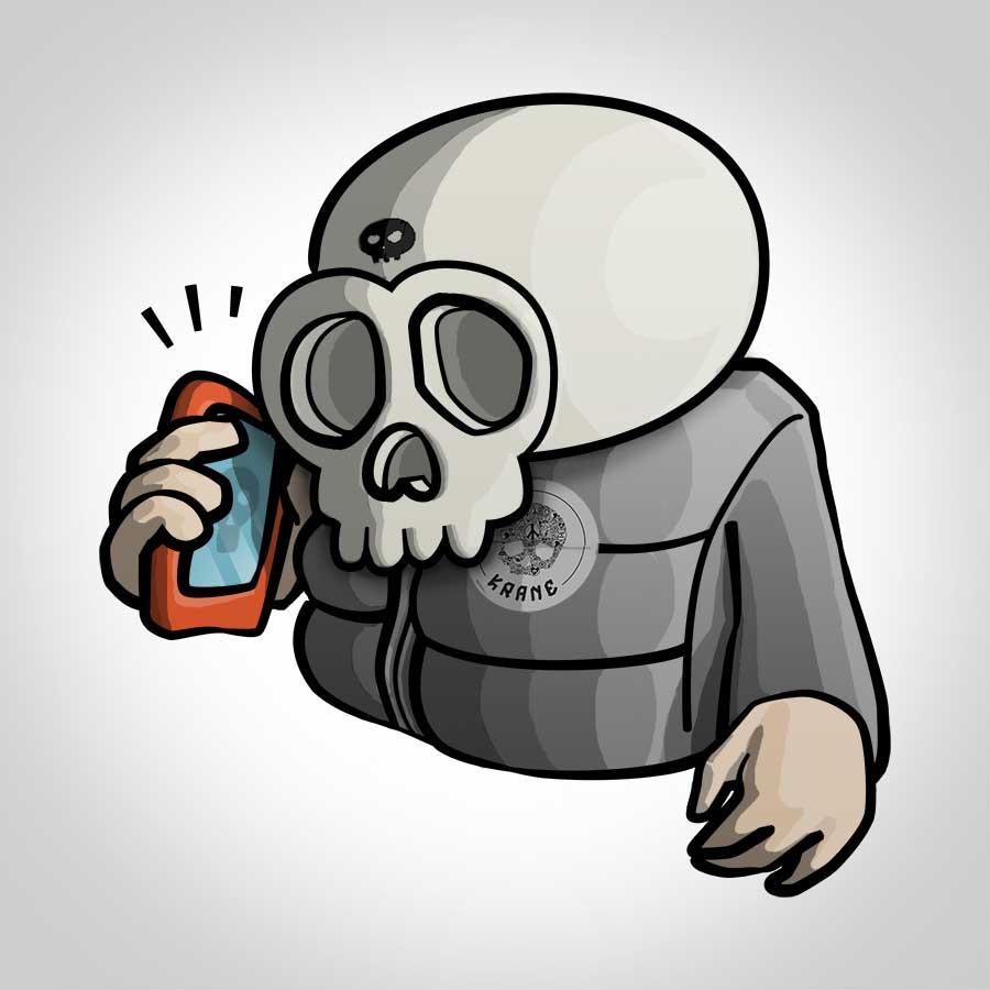 Phone skull by Krane