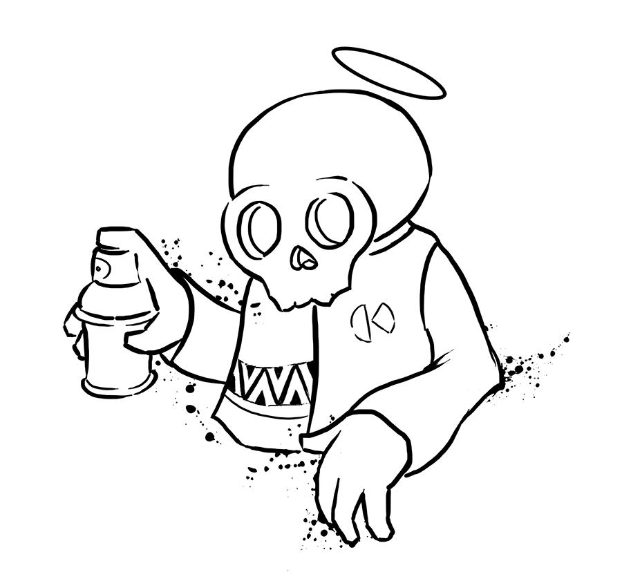 Skull-bomb by Krane