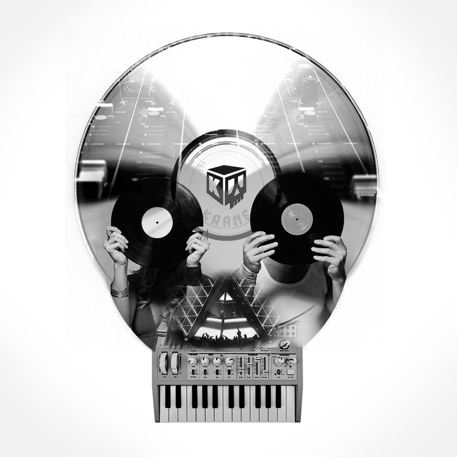 E-music skull by Krane