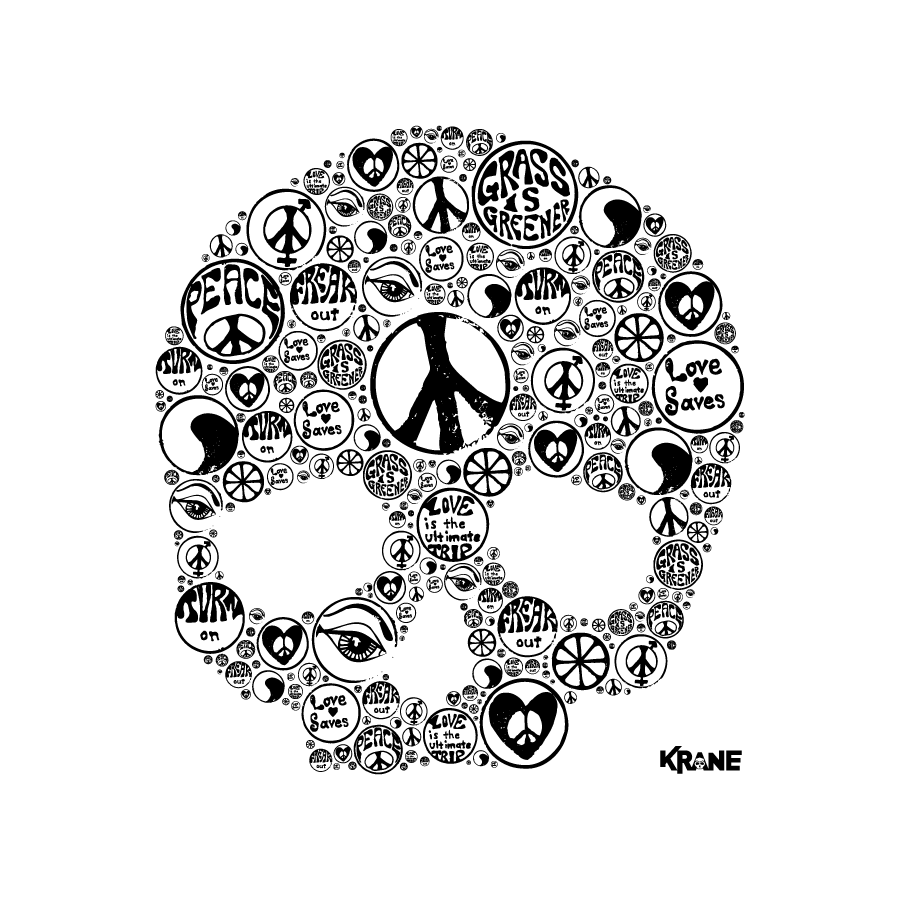 Peace and skull by Krane