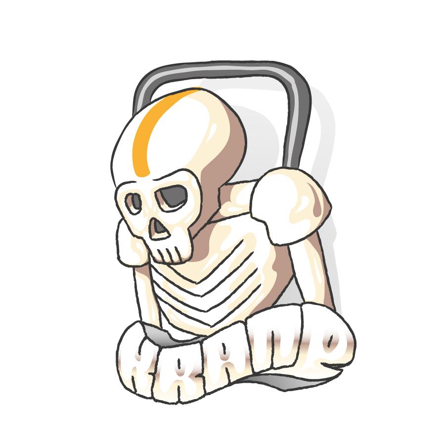 Sad Skull by Krane