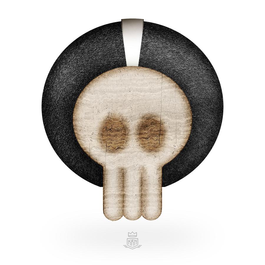 Stone skull by Krane
